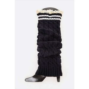 NWT Lace Trim Leg Warmers | Navy Blue